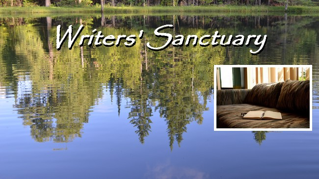 Writers Sanctuary header with book
